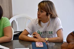 Shirley Morales representou o Seese na audiência, juntamente com Sheila Morgana