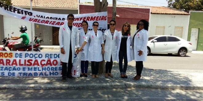Enfermeiros sofrem perseguição e população apoia ato do SEESE