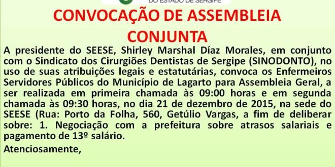 CONVOCAÇÃO!!!