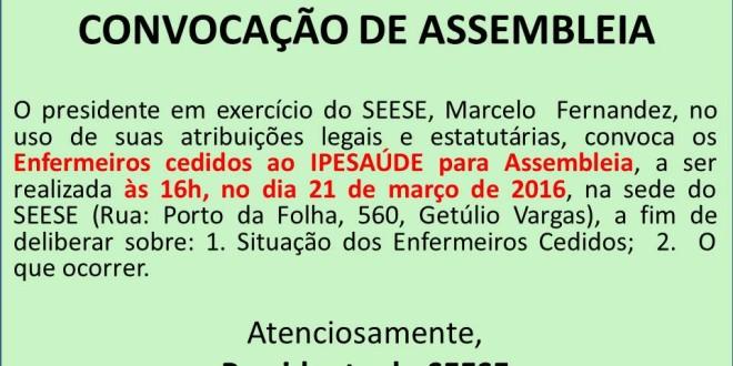 CONVOCAÇÃO DE ASSEMBLEIA!