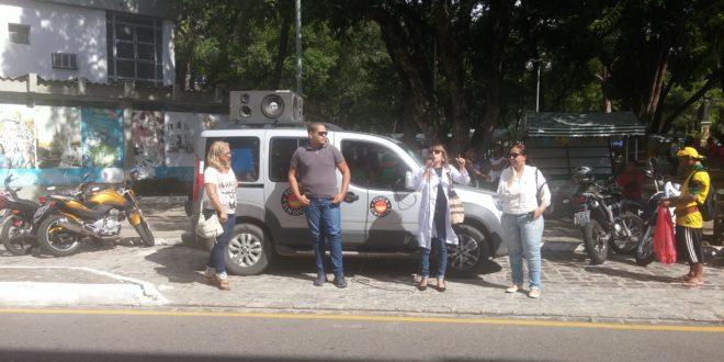 Servidores municipais da saúde realizam ato e pedem apoio aos vereadores