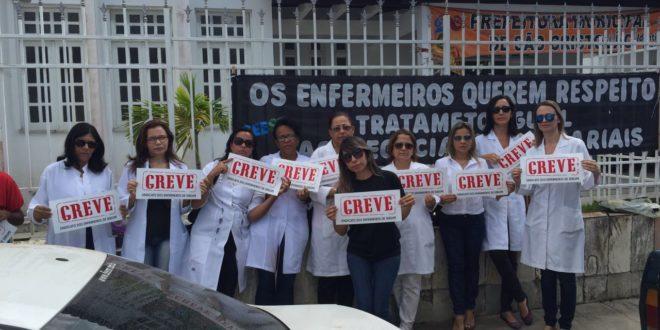 Enfermeiros de São Cristóvão realizam ato público e iniciam o movimento grevista