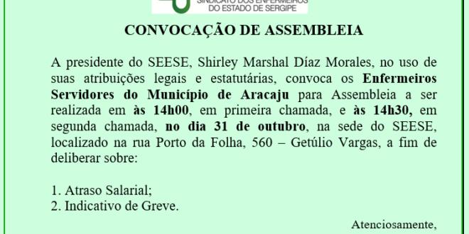Atenção Enfermeiros servidores de Aracaju