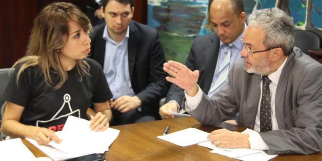 Após mobilização, dirigentes sindicais se reúnem com presidente do TCE, Clóvis Barbosa e o Conselheiro Ulices Andrade