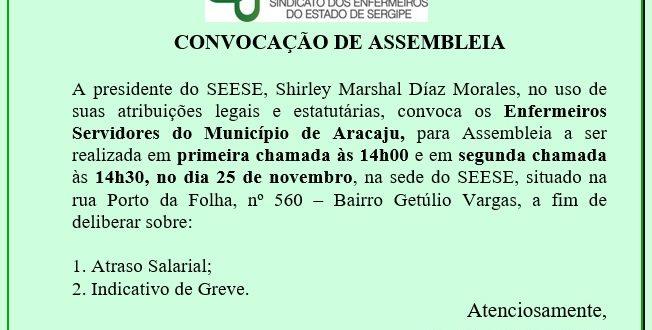Atenção Enfermeiros do Município de Aracaju