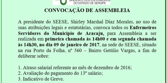 Assembleia para os Enfermeiros Servidores do Município de Aracaju