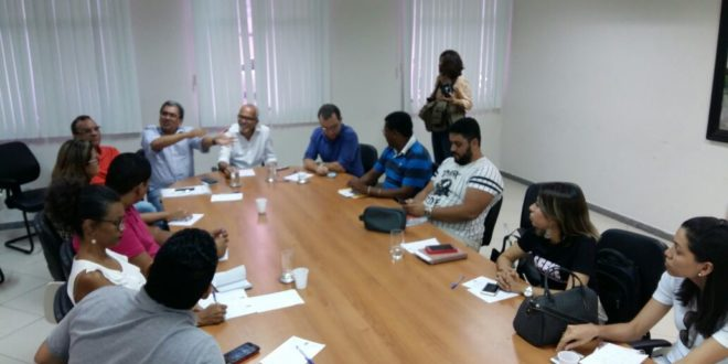 Diretores dos Sindicatos da saúde se reúnem com o prefeito Edvaldo Nogueira